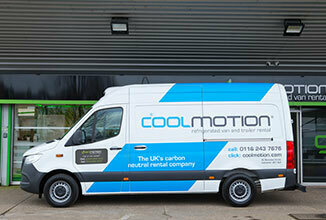 Cool Motion Refrigerated Van and Trailer Rental Van Mercedes Sprinter Left 326x220